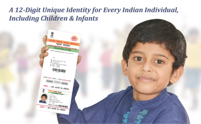 Aadhaar Card for Children and Infants