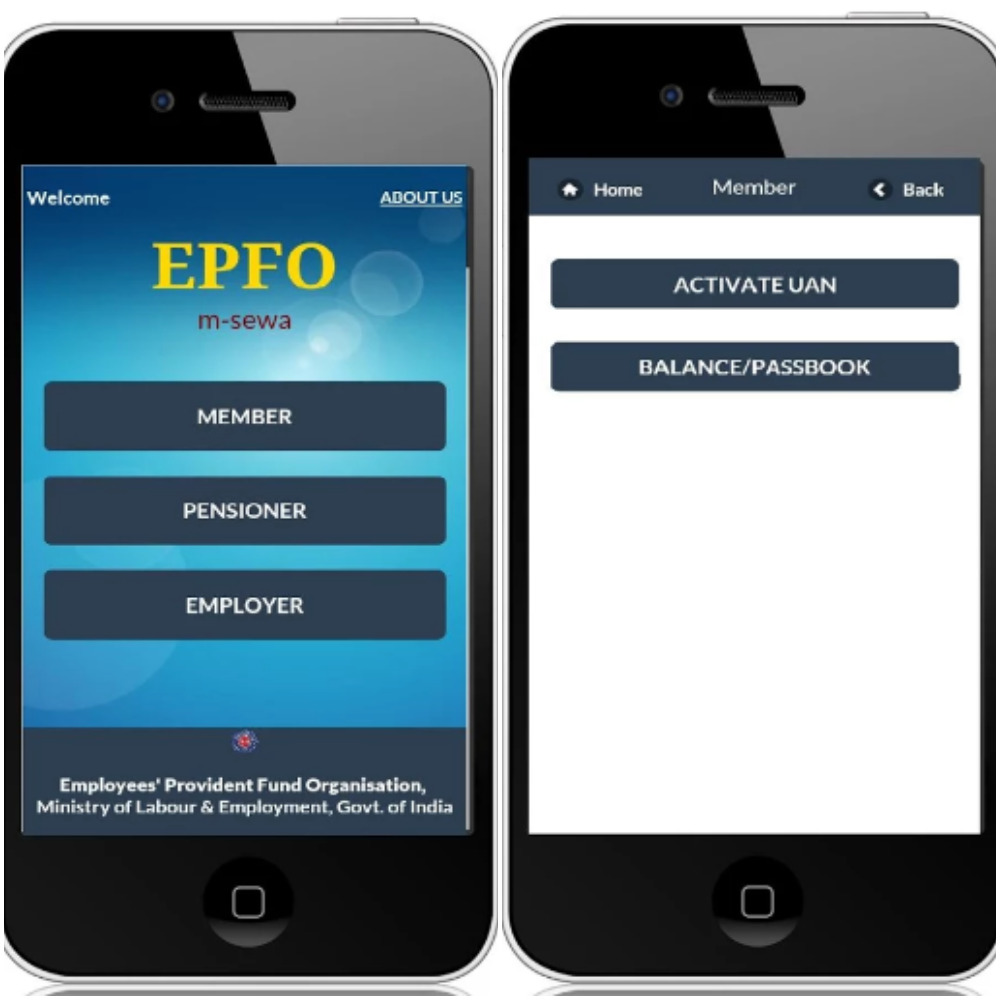 Checking EPF balance using m-epf app