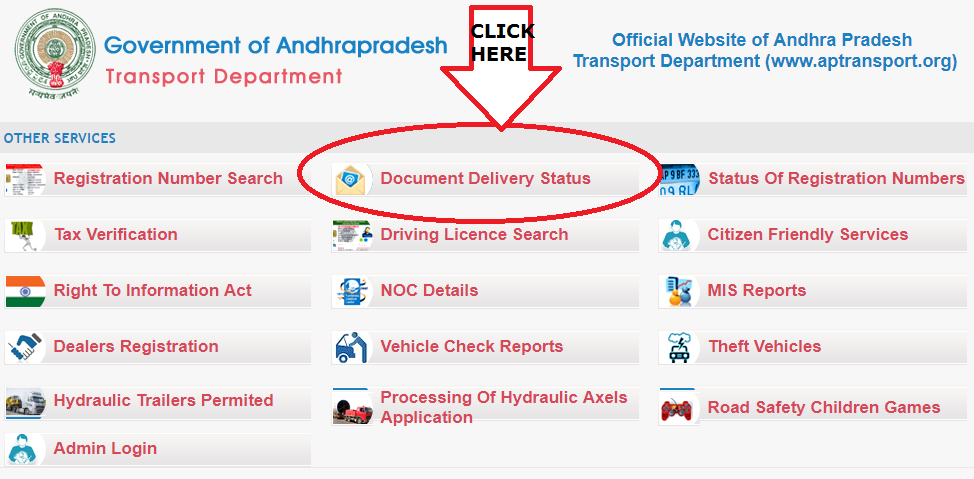 Andhra Pradesh Transport Department Website