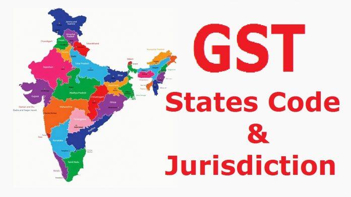 GST States Code and Jurisdiction