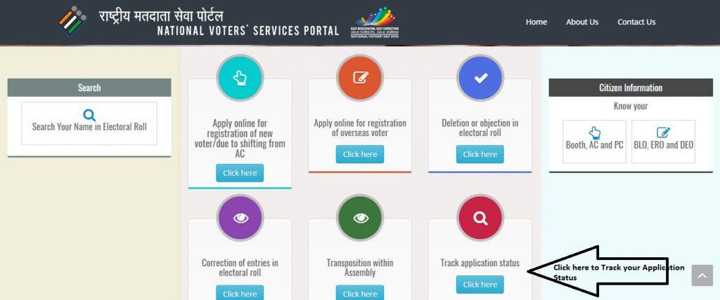 NSVP Track Voter ID Application Status