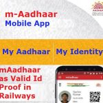 mAadhaar to be valid ID in railways
