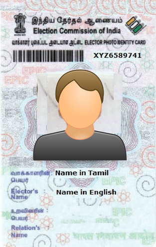 Tamilnadu Voter ID Card election.tn.gov.in