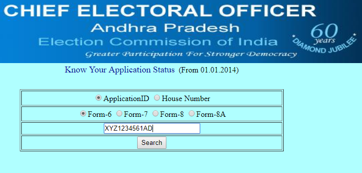 CEO Andhra Pradesh Application Status ceoaperms.ap.gov.in