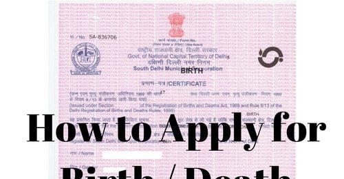 Birth or Death Certificate