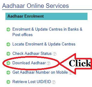 UIDAI Official Website Aadhaar Download