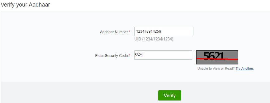 Verify Aadhaar UIDAI Official Website
