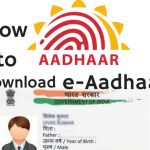 e-aadhaar How to download - eaadhaar.uidai.gov.in