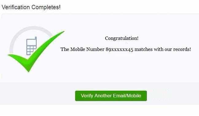 Verifying Mobile Number & E-mail uidai.gov.in