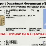 Driving license in Rajasthan