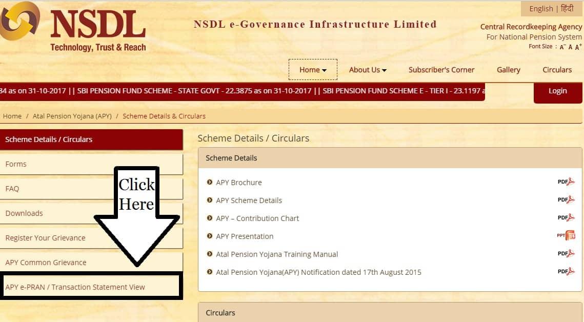 Atal Pension Yojana npscra.nsdl.co.in