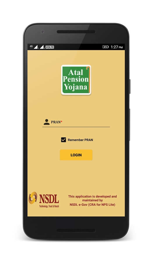 APY and NPS Lite App Login via PRAN