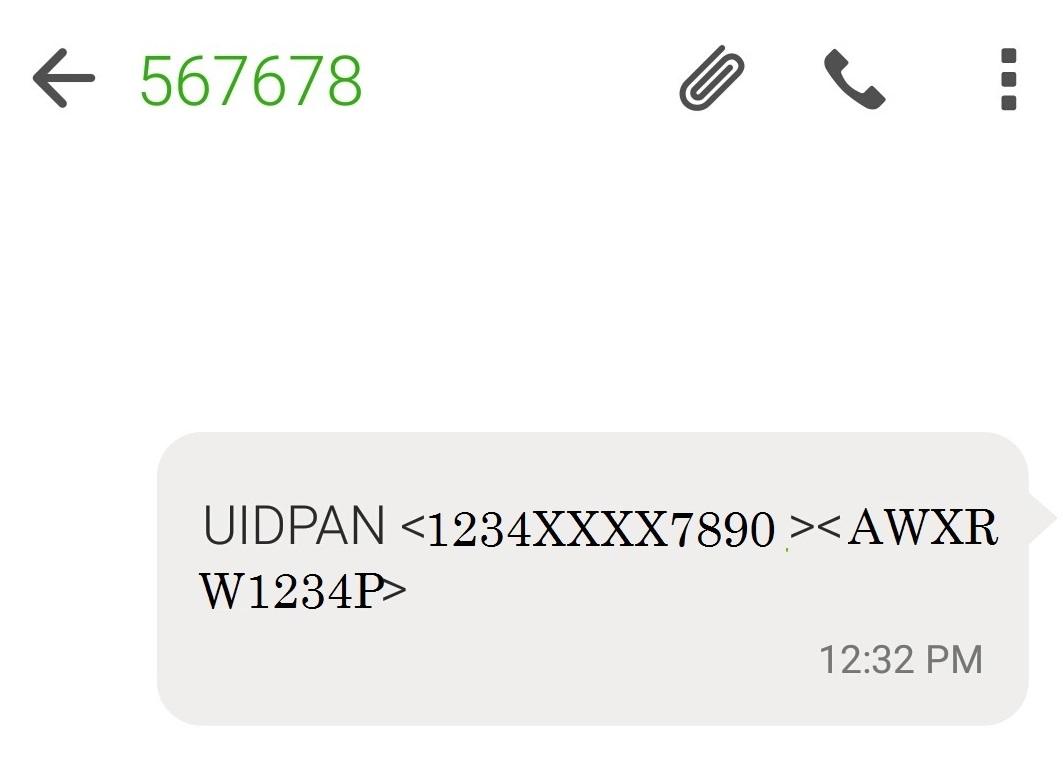 Aadhaar and Pan linking using SMS