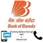 Bank of Baroda Balance Enquiry