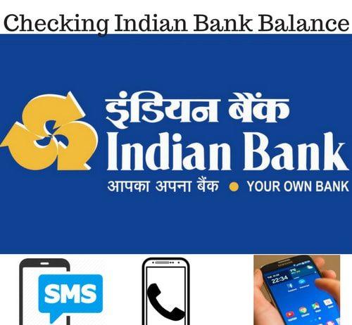 Checking Indian Bank Balance
