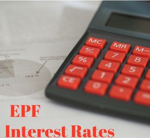 EPF Interest Rates