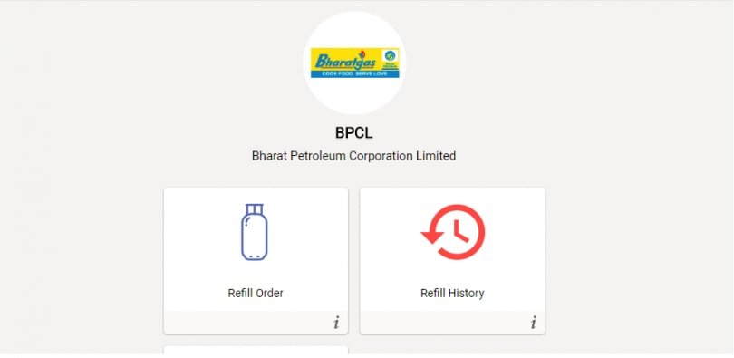 Umang App Bharat Gas Booking