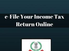 e-File Your Income Tax Return