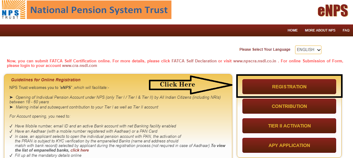 NPS Account Registration