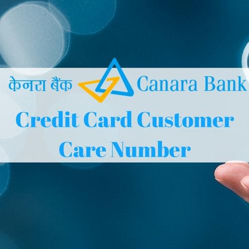 Canara Bank Credit Card Customer Care Number