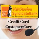 Syndicate Bank Credit Card Customer Care