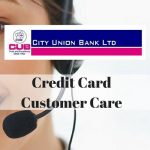 City Union Bank Credit Card Customer Care