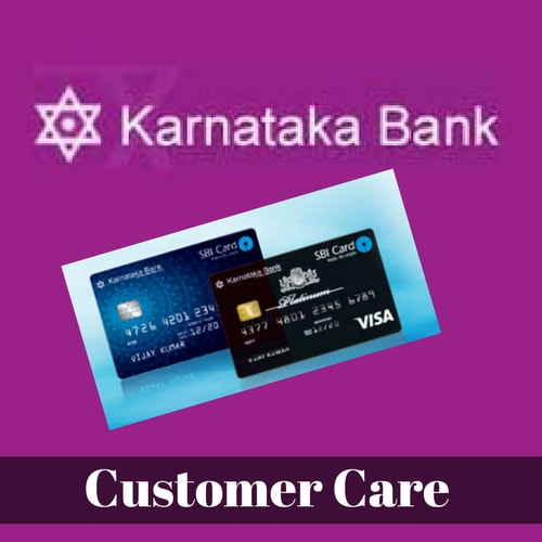 Karnataka Bank Credit Card Customer Care