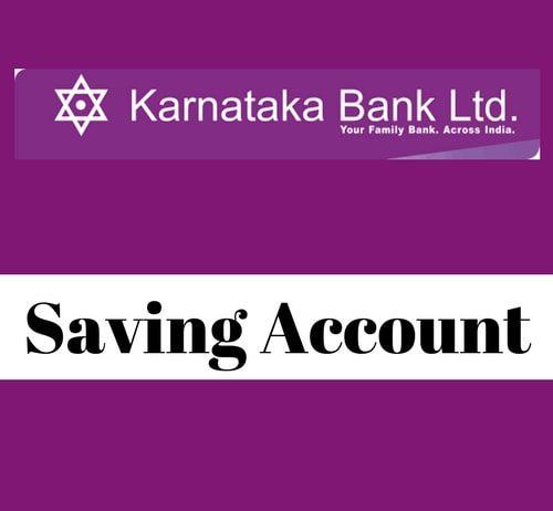 Karnataka Bank Savings Account