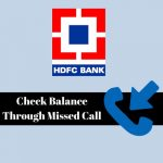Check HDFC Account Balance