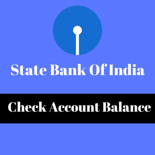 State Bank of India Check Balance